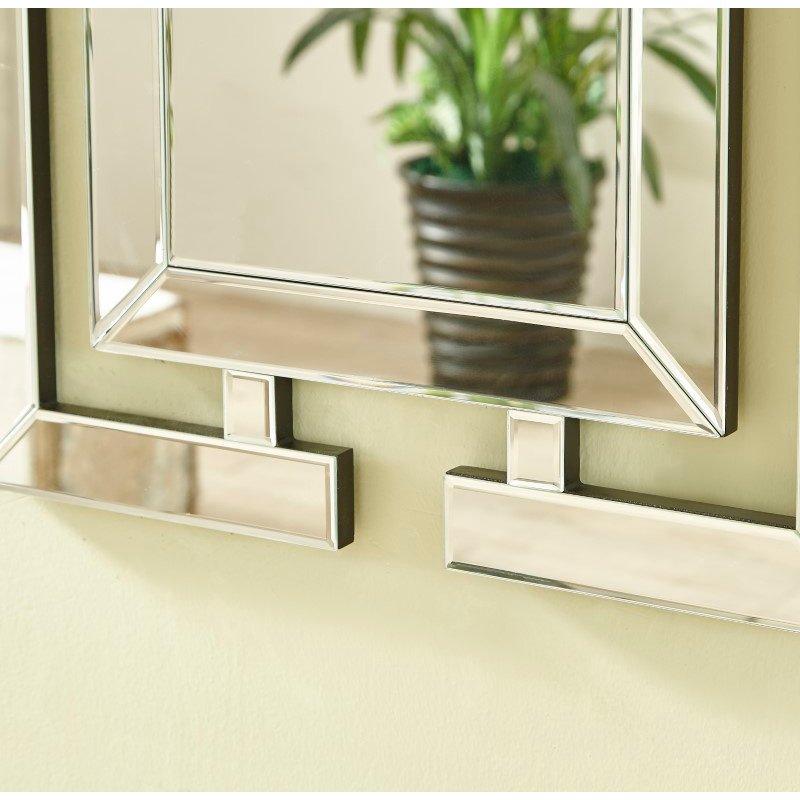 Elegant Decor Sparkle 21 in. Contemporary Rectangle Mirror in Clear (MR9146)