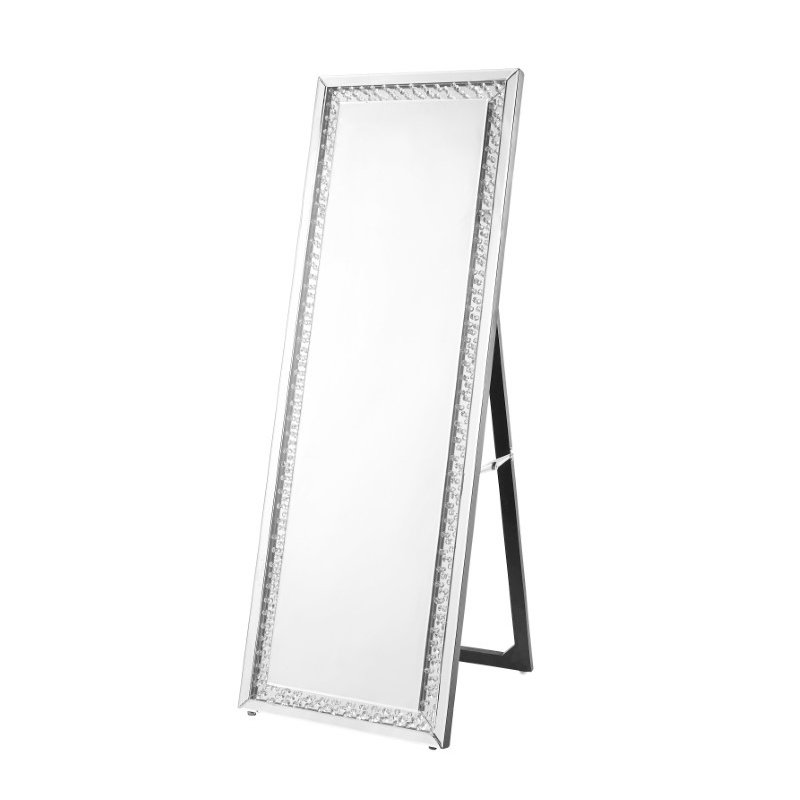 Elegant Decor Sparkle 22 in. Contemporary Standing Full length Mirror in Clear (MR9123)