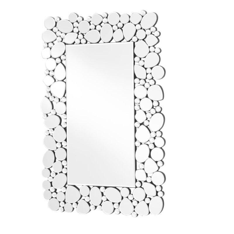 Elegant Decor Sparkle 30.5 in. Contemporary Rectangle Mirror in Clear (MR9121)