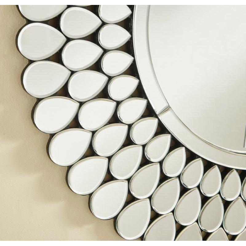 Elegant Decor Sparkle 31.5 in. Contemporary Round Mirror in Clear (MR9156)