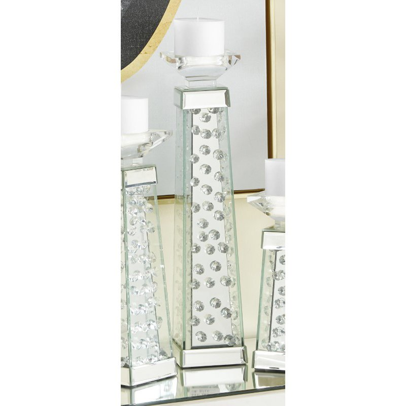 Elegant Decor Sparkle 4 in. Contemporary Crystal Candleholder in Clear (MR9110)