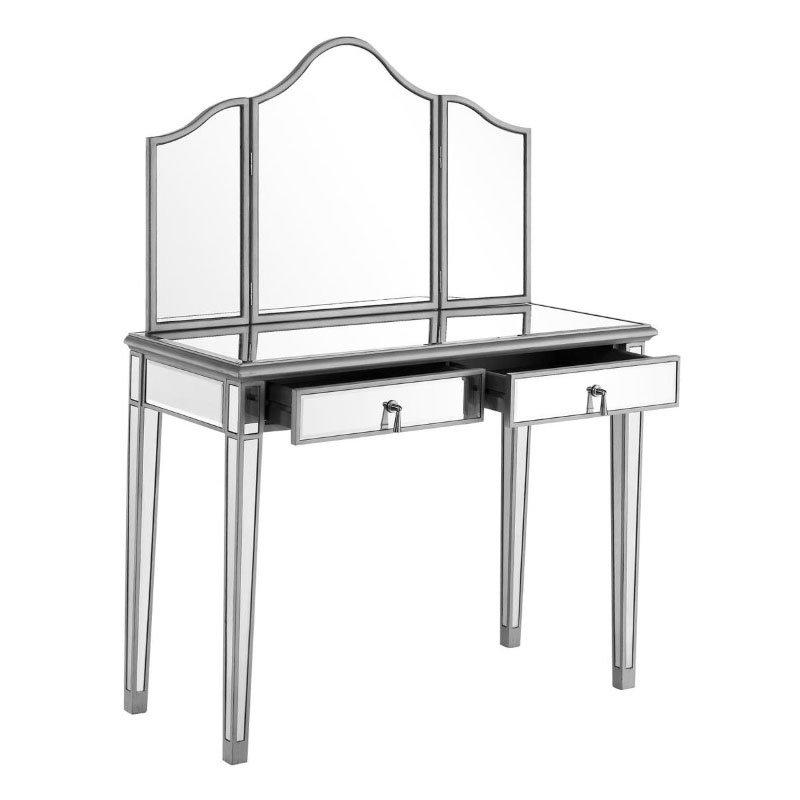 Elegant Decor Vanity Table 42 in. x 18 in. x 31 in. and Mirror 39 in. x 1 in. x 42 in. (MF6-2001S)