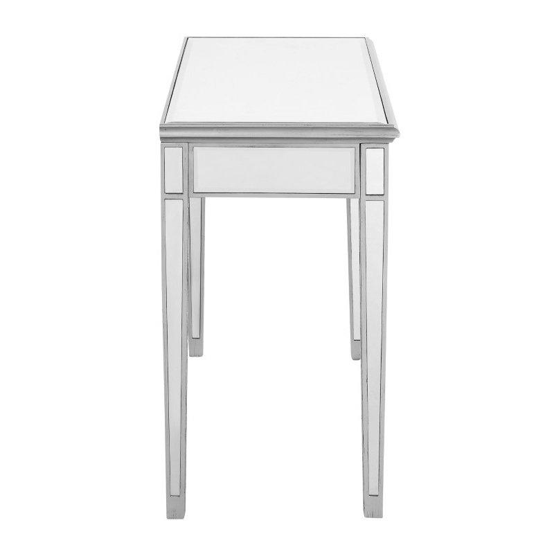 Elegant Decor Vanity Table 42 in. x 18 in. x 31 in. in Silver paint (MF6-1006S)