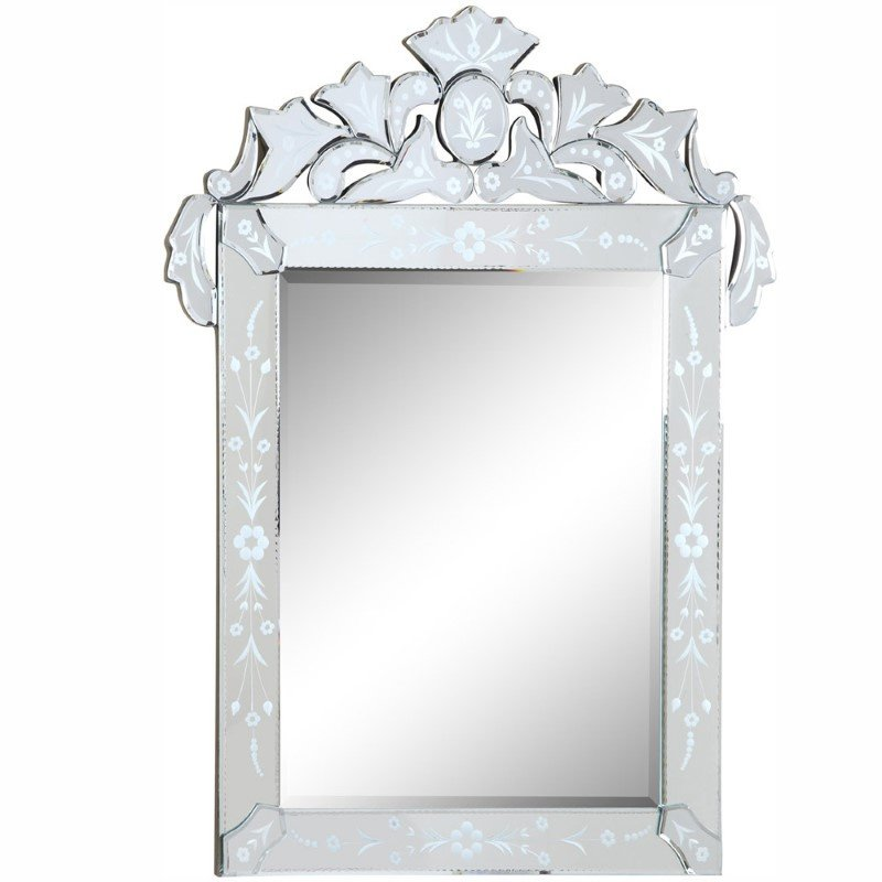 Elegant Decor Venetian 27.6 in. Transitional Mirror in Clear (MR-2014C)