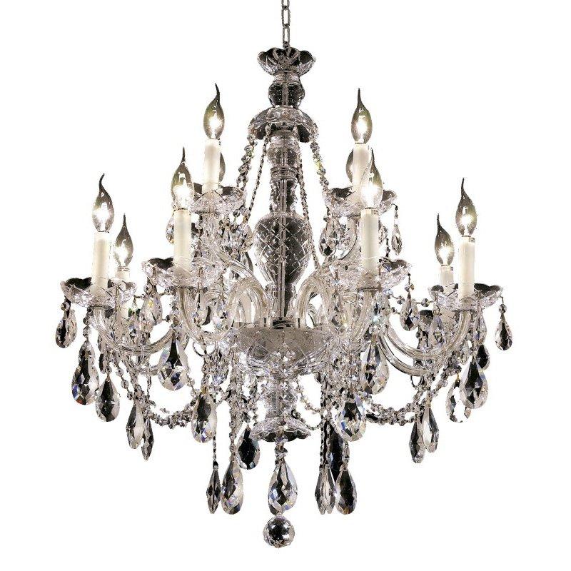 Elegant Lighting Alexandria 12 Light Chrome Chandelier Clear Swarovski Elements Crystal (7829D28C/SS)