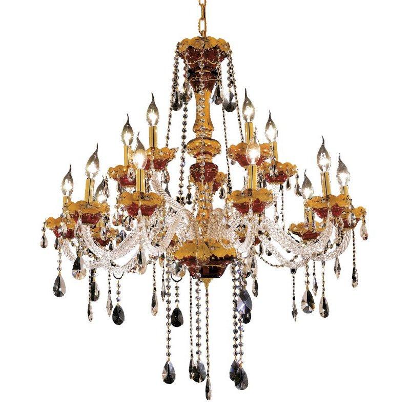 Elegant Lighting Alexandria 15 Light Gold Chandelier Clear Spectra Swarovski Crystal (7810G35G/SA)