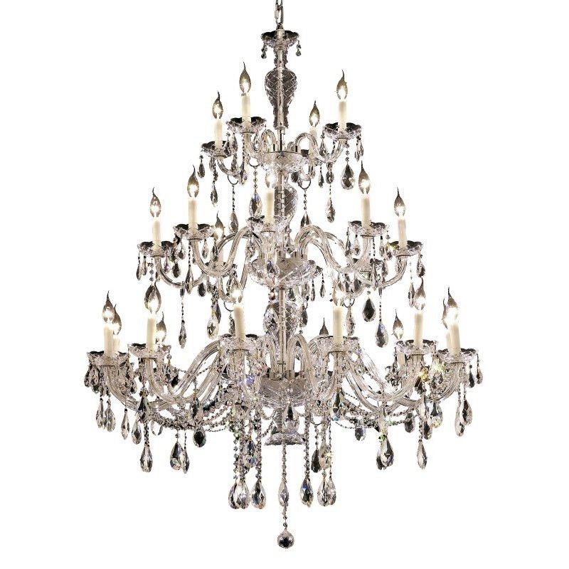 Elegant Lighting Alexandria 24 Light Chrome Chandelier Clear Elegant Cut Crystal (7829G45C/EC)