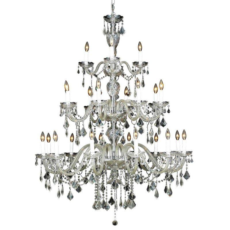 Elegant Lighting Alexandria 24 Light Chrome Chandelier Clear Swarovski Elements Crystal (7831G45C/SS)