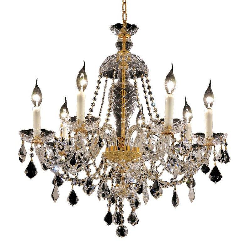 Elegant Lighting Alexandria 7 Light Gold Chandelier Clear Royal Cut Crystal (7831D26G/RC)
