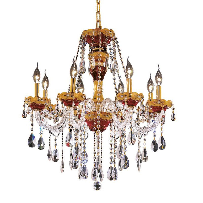 Elegant Lighting Alexandria 8 Light Gold Chandelier Clear Swarovski Elements Crystal (7810D26G/SS)