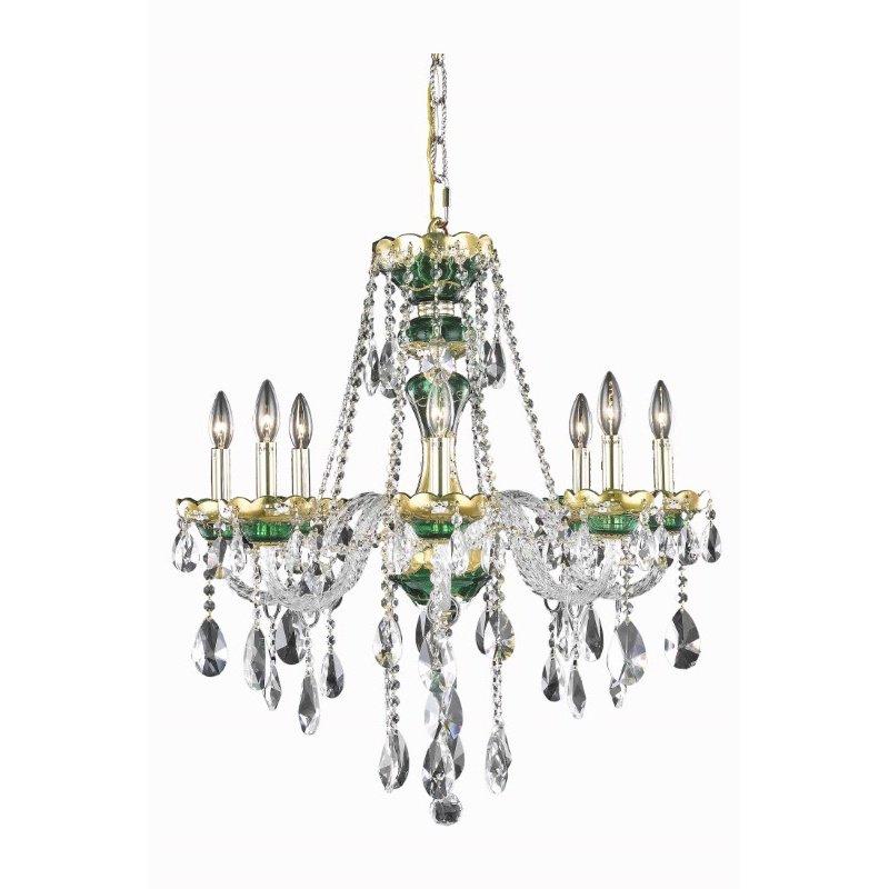 Elegant Lighting Alexandria 8 Light Green Chandelier Clear Swarovski Elements Crystal (7810D26GN/SS)