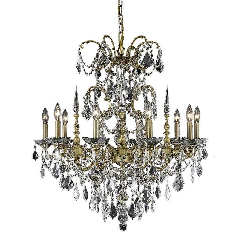 Elegant Lighting Athena 10 Light French Gold Chandelier Clear Spectra Swarovski Crystal (9710D30FG/SA)