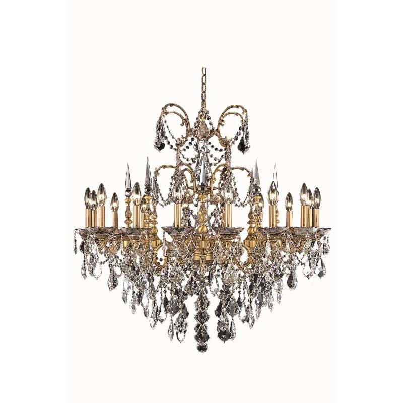 Elegant Lighting Athena 16 Light French Gold Chandelier Clear Swarovski Elements Crystal (9716D35FG/SS)