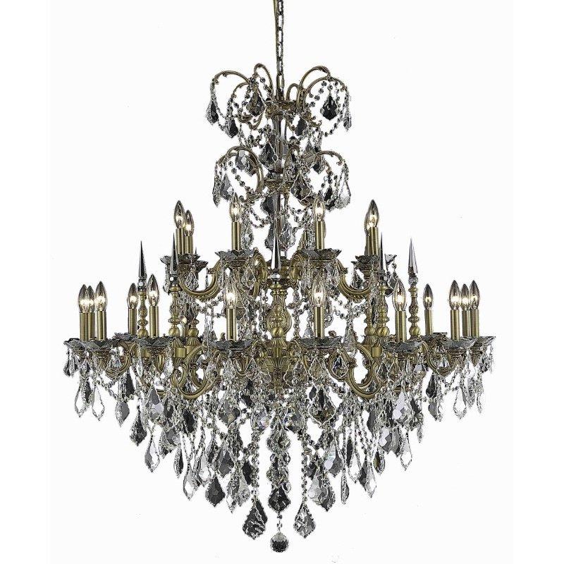 Elegant Lighting Athena 24 Light French Gold Chandelier Clear Elegant Cut Crystal (9724G44FG/EC)