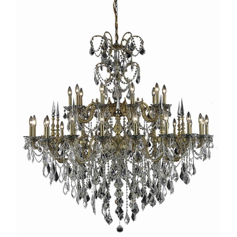 Elegant Lighting Athena 30 Light French Gold Chandelier Clear Royal Cut Crystal (9730G53FG/RC)