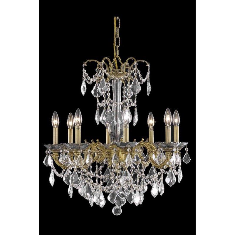 Elegant Lighting Athena 8 Light French Gold Chandelier Clear Spectra Swarovski Crystal (9708D24FG/SA)