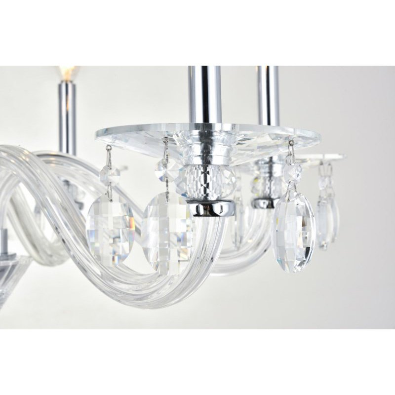 Elegant Lighting Augusta 6 Light Silver Shade Chandelier Clear Royal Cut Crystal (7870D29C/RC)