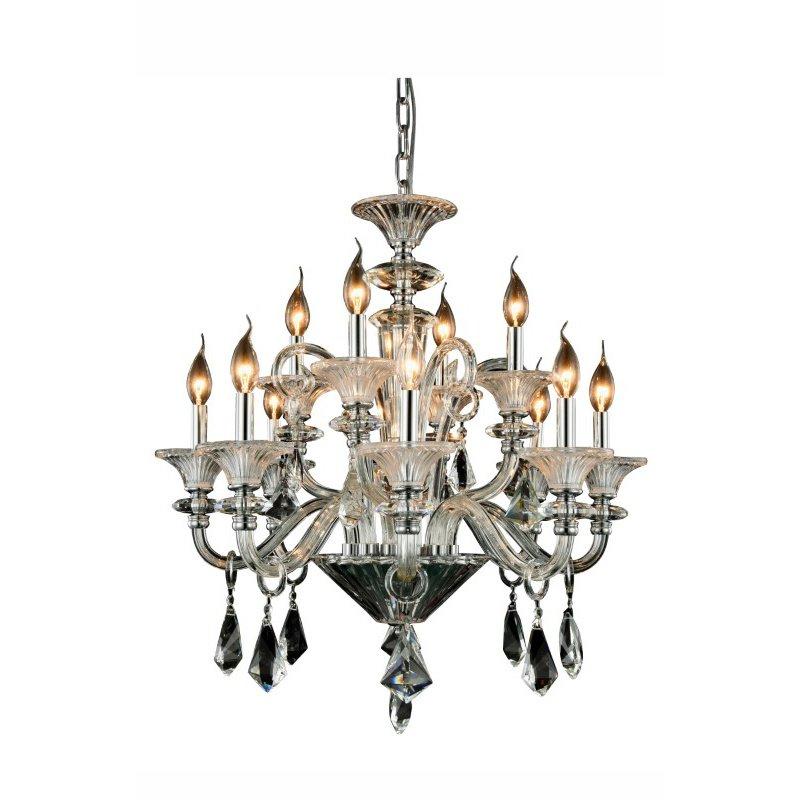 Elegant Lighting Aurora 12 Light Chrome Chandelier Clear Royal Cut Crystal (7871D28C/RC)