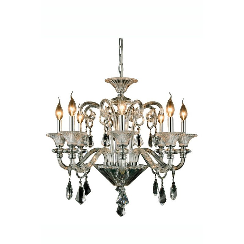 Elegant Lighting Aurora 8 Light Chrome Chandelier Clear Royal Cut Crystal (7871D26C/RC)