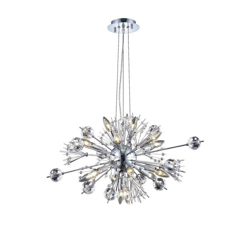Elegant Lighting Cyclone 22 Light Chrome Chandelier Clear Elegant Cut Crystal (3400D24C/EC)
