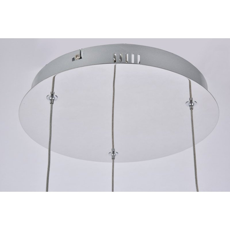 Elegant Lighting Diego Collection LED 3-Light chandelier 12in x 4in chrome finish (3903D12C)