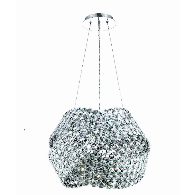 Elegant Lighting Electron 12 Light Chrome Chandelier Clear Elegant Cut Crystal (9803D24C/EC)