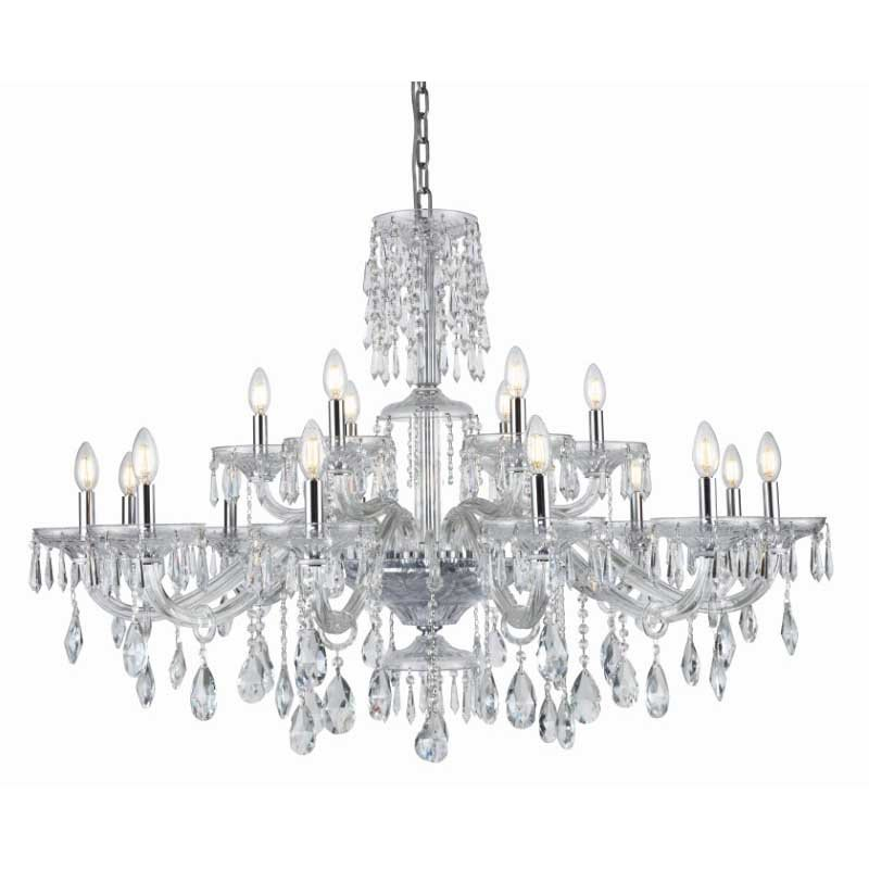 Elegant Lighting Elliott 18 Light Chrome Chandelier Clear Royal Cut Crystal (7873G45C/RC)