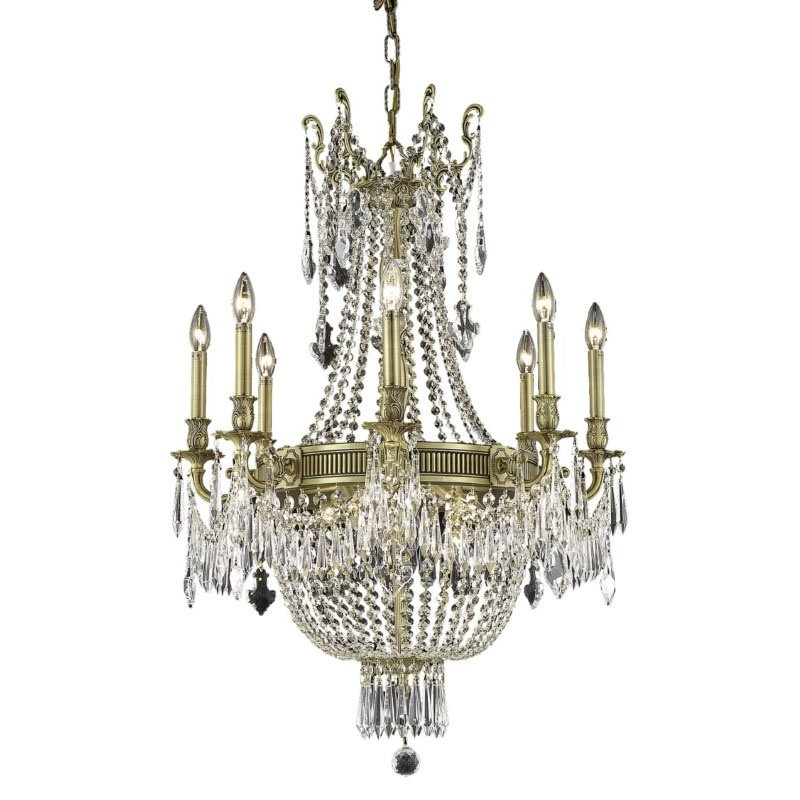 Elegant Lighting Esperanza 12 Light French Gold Chandelier Clear Royal Cut Crystal (9312D26FG/RC)