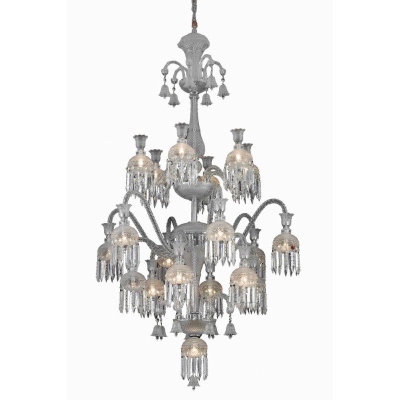 Elegant Lighting Majestic 13 Light Chrome Chandelier Clear Elegant Cut Crystal (8913G39C/EC)