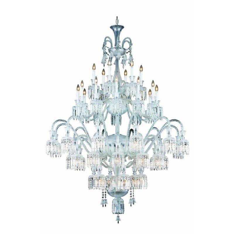 Elegant Lighting Majestic 48 Light Chrome Chandelier Clear Elegant Cut Crystal (8948G60C/EC)