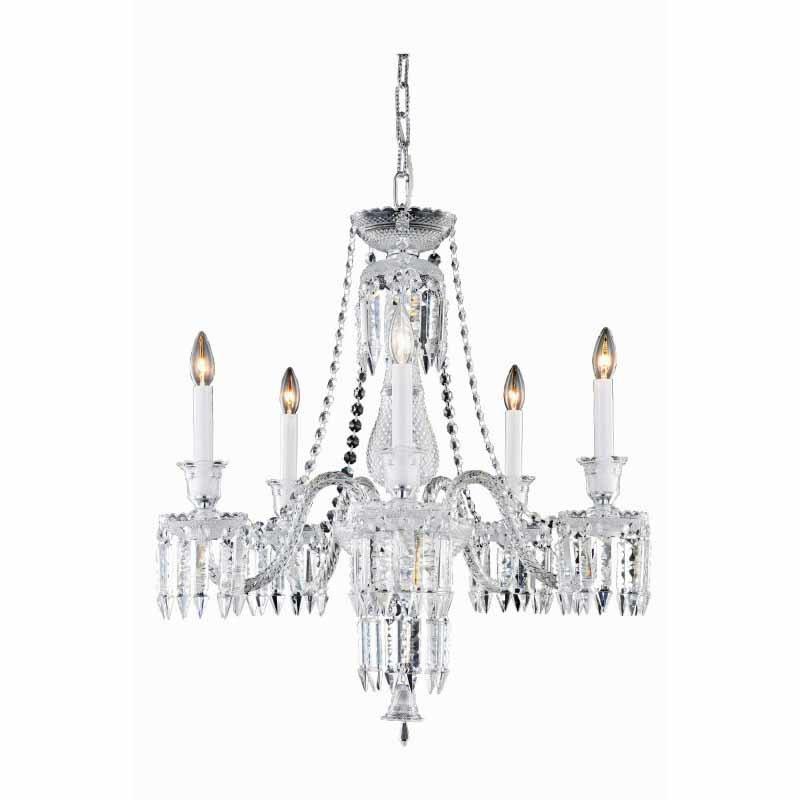 Elegant Lighting Majestic 5 Light Chrome Chandelier Clear Elegant Cut Crystal (8905D27SC/EC)