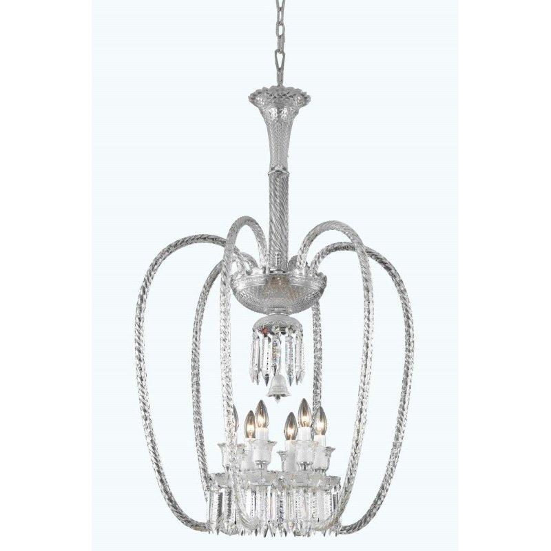 Elegant Lighting Majestic 6 Light Chrome Chandelier Clear Elegant Cut Crystal (8906D27C/EC)