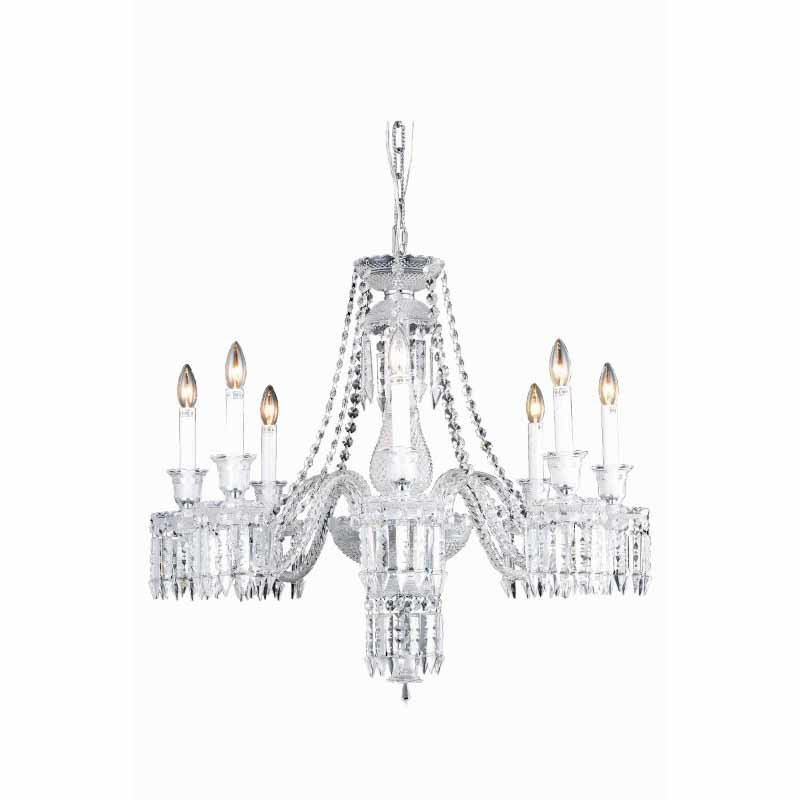 Elegant Lighting Majestic 8 Light Chrome Chandelier Clear Elegant Cut Crystal (8908D32SC/EC)