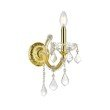 Elegant Lighting Maria Theresa 1 Light Gold Wall Sconce Clear Swarovski Elements Crystal (2800W1G/SS)