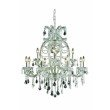 Elegant Lighting Maria Theresa 12 Light Chrome Chandelier Clear Elegant Cut Crystal (2800D33C/EC)