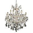 Elegant Lighting Maria Theresa 13 Light Chrome Chandelier Clear Spectra Swarovski Crystal (2800D27C/SA)