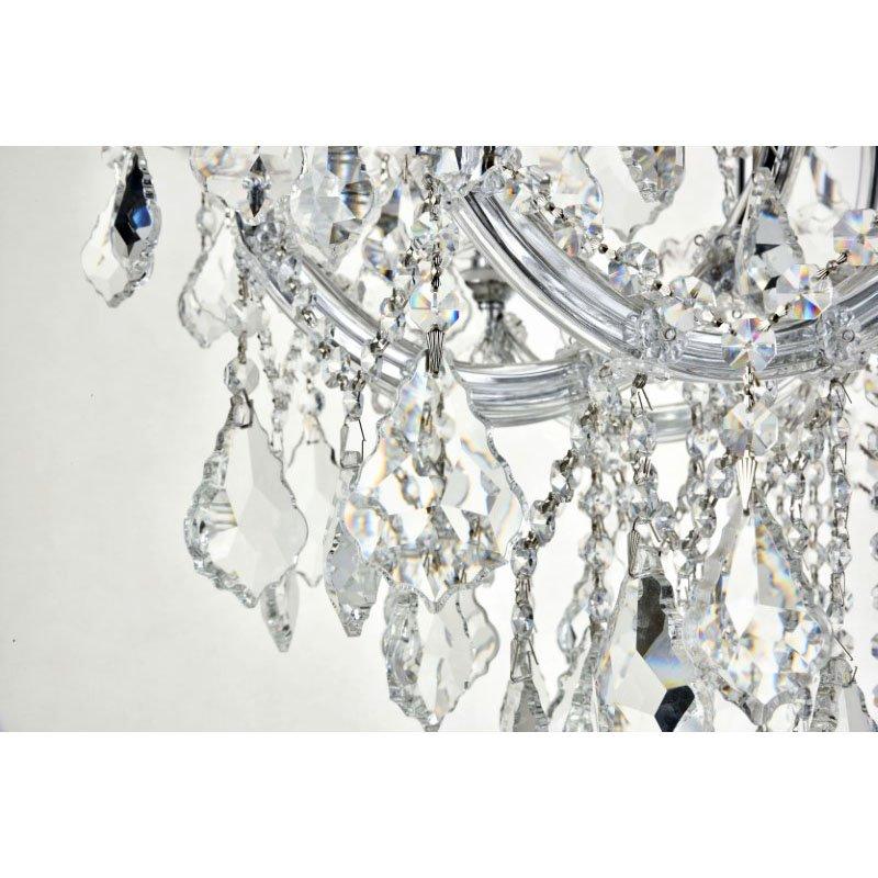 Elegant Lighting Maria Theresa 19 Light Chrome Chandelier Clear Royal Cut Crystal (2800D30C/RC)