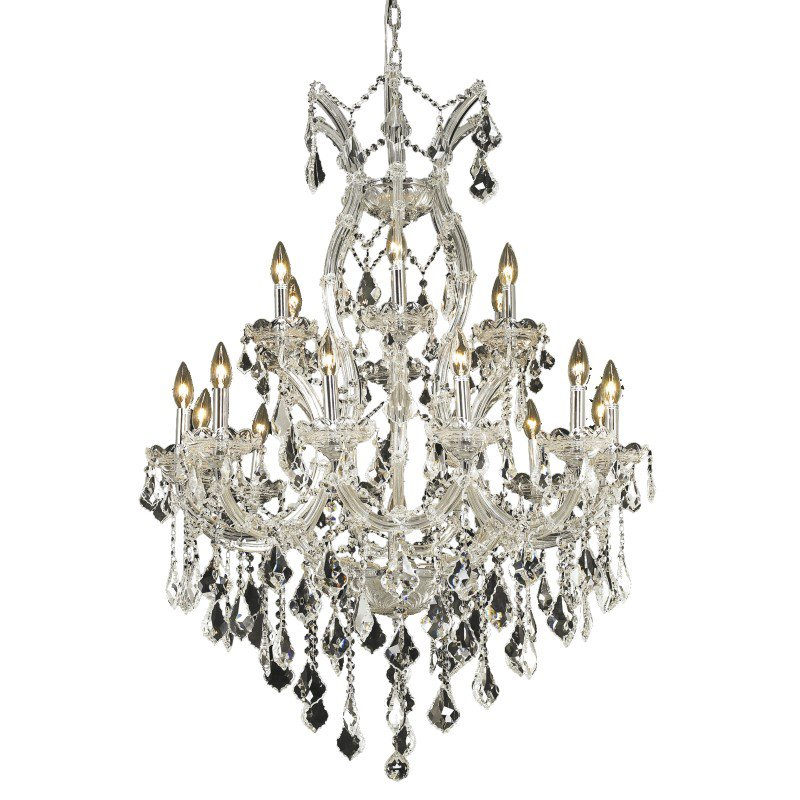 Elegant Lighting Maria Theresa 19 Light Chrome Chandelier Clear Royal Cut Crystal (2800D32C/RC)