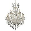 Elegant Lighting Maria Theresa 19 Light Chrome Chandelier Clear Swarovski Elements Crystal (2800D32C/SS)