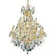 Elegant Lighting Maria Theresa 19 Light Gold Chandelier Clear Swarovski Elements Crystal (2800D32G/SS)