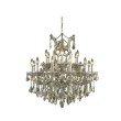 Elegant Lighting Maria Theresa 19 Light Golden Teak Chandelier Golden Teak (Smoky) Royal Cut Crystal (2800D30GT-GT/RC)