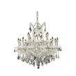 Elegant Lighting Maria Theresa 19 Light white Chandelier Clear Elegant Cut Crystal (2800D30WH/EC)