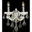 Elegant Lighting Maria Theresa 2 Light white Wall Sconce Clear Swarovski Elements Crystal (2800W2WH/SS)