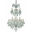 Elegant Lighting Maria Theresa 24 Light Chrome Chandelier Clear Royal Cut Crystal (2800G32C/RC)
