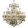 Elegant Lighting Maria Theresa 24 Light Chrome Chandelier Golden Teak (Smoky) Swarovski Elements Crystal (2800D36C-GT/SS)
