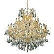 Elegant Lighting Maria Theresa 24 Light Gold Chandelier Clear Swarovski Elements Crystal (2800D36G/SS)