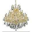 Elegant Lighting Maria Theresa 24 Light Gold Chandelier Clear Swarovski Elements Crystal (2801D36G/SS)