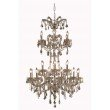 Elegant Lighting Maria Theresa 24 Light Golden Teak Chandelier Golden Teak (Smoky) Swarovski Elements Crystal (2800G32GT-GT/SS)