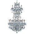 Elegant Lighting Maria Theresa 25 Light Chrome Chandelier Clear Royal Cut Crystal (2801D30SC/RC)
