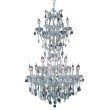 Elegant Lighting Maria Theresa 25 Light Chrome Chandelier Clear Swarovski Elements Crystal (2800D30SC/SS)